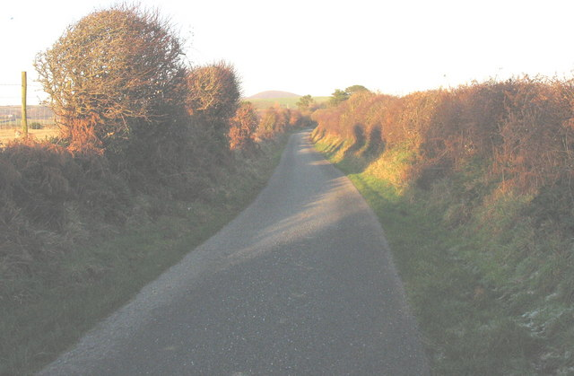 Country lane between Rhydolion and Pen-y-Bont Farms
