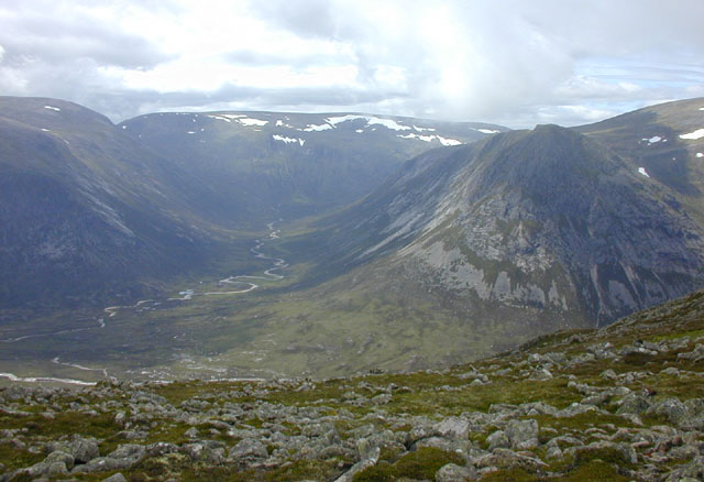 View west from Carn a' Mhaim