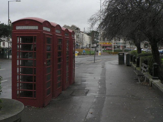 Bournemouth: four red phone boxes