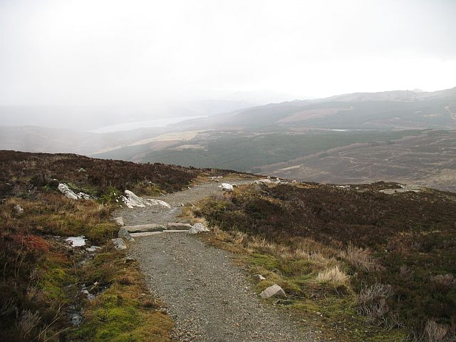 Water bar on the new Schiehallion path