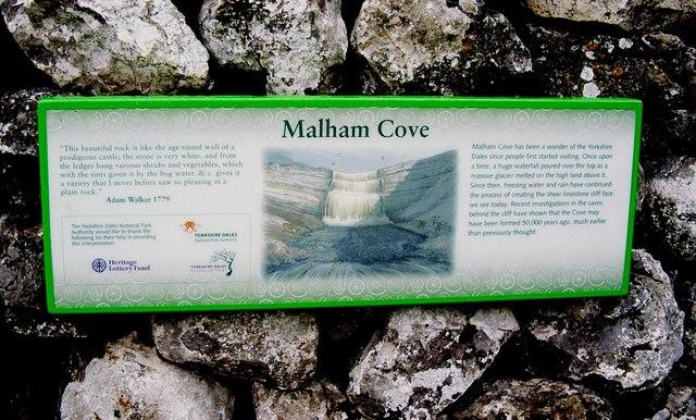 Malham Cove, Information Board