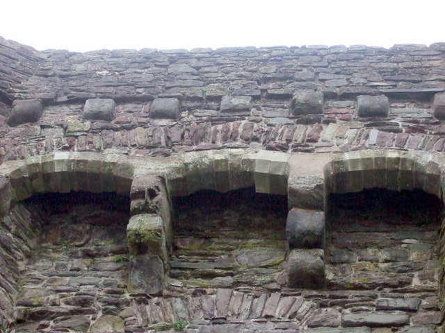 Murder holes on Carmarthen Castle