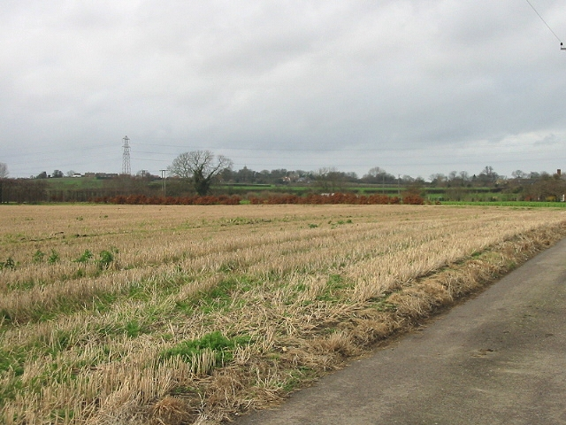 View across farmland towards Woodnesborough