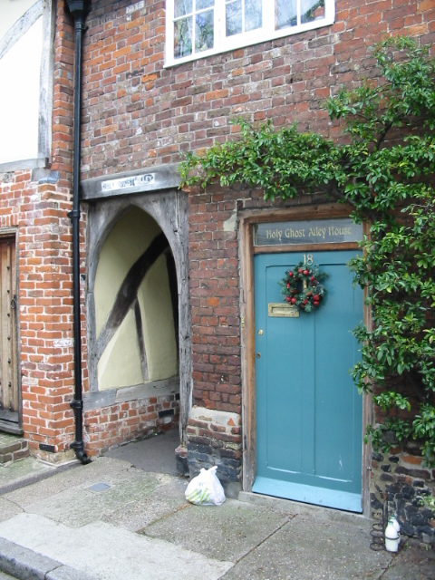 Entrance to Holy Ghost Alley from St Peter's Street