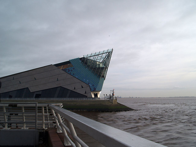 The Deep at High tide on the River Humber