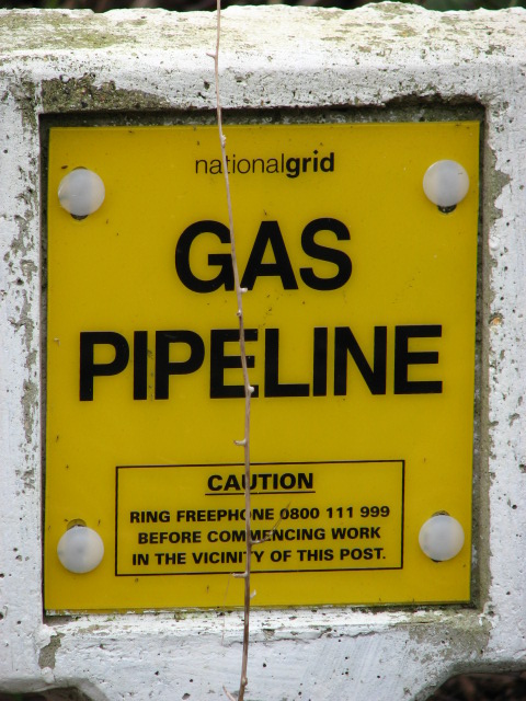 Gas pipeline marker - detail