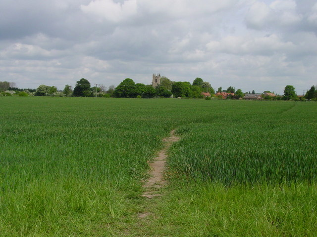 Rolleston Church seen from Trent Valley Way footpath