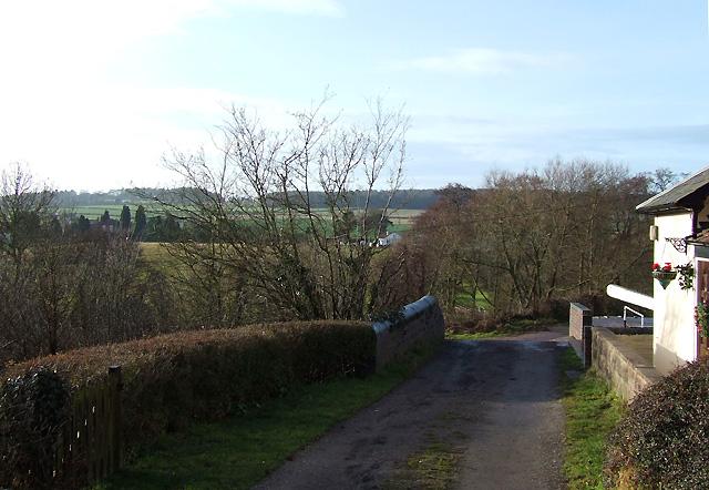 Lane crossing Botterham Locks, Staffordshire