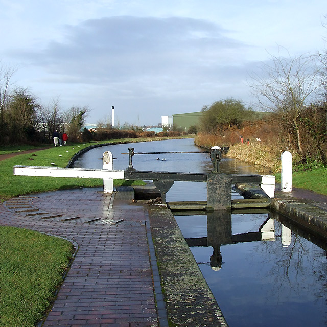 Botterham Staircase Top Lock, Staffordshire and Worcestershire Canal