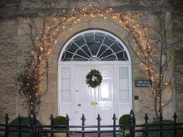 Festive Doorway, Lechlade on Thames