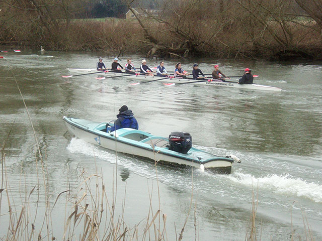 Wallingford Rowing Club in training