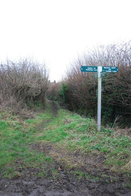Bridleway to Colber Bridge