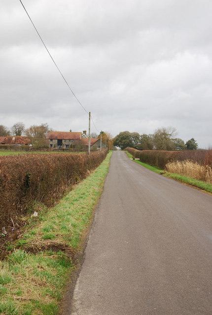 Road passing Higher Farm