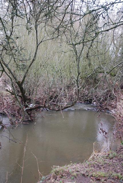 Footpath crosses Caundle Brook