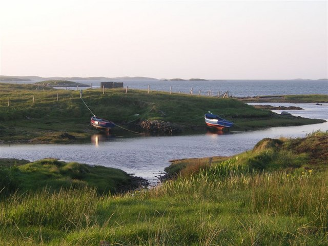 The little harbour at Ard-an-eoin, on the Oitir Bheag