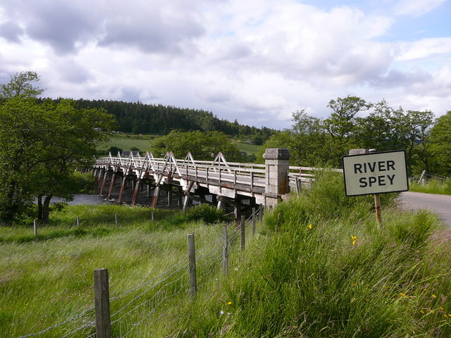 Broomhill Bridge over the River Spey.