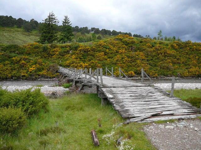 The bridge over the River Feshie at Carnachuin.