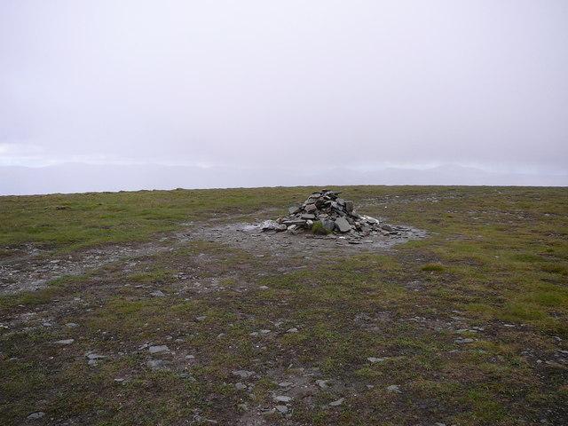 The summit of Mullach Clach a' Bhlair.