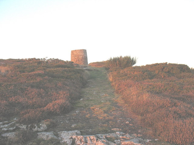 Approaching the windmill on the summit of Foel Fawr