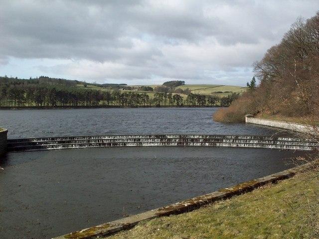 The Spillway at Tunstall Reservoir