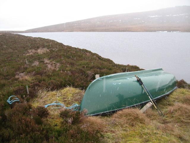 Boat at Loch Chuinneag