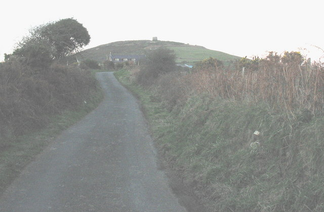 Minor road from Mynytho northwards towards the foot of Foel Fras