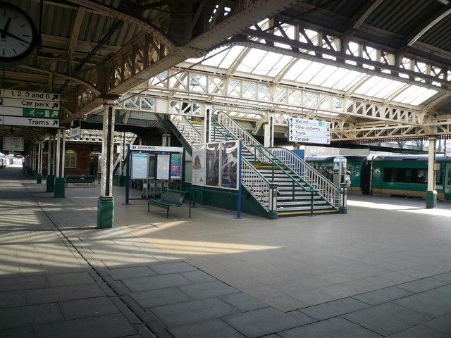 Nottingham Station Platform - Way Out