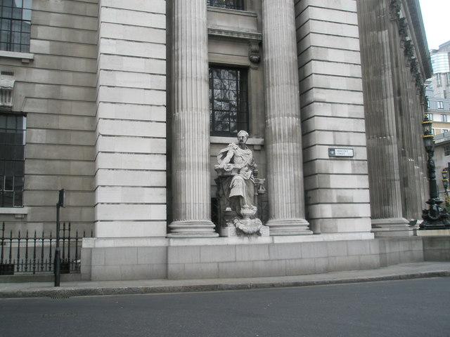 Statue in Muscovy Street