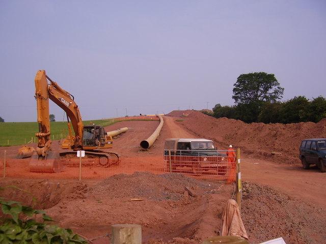 Gas pipeline under construction