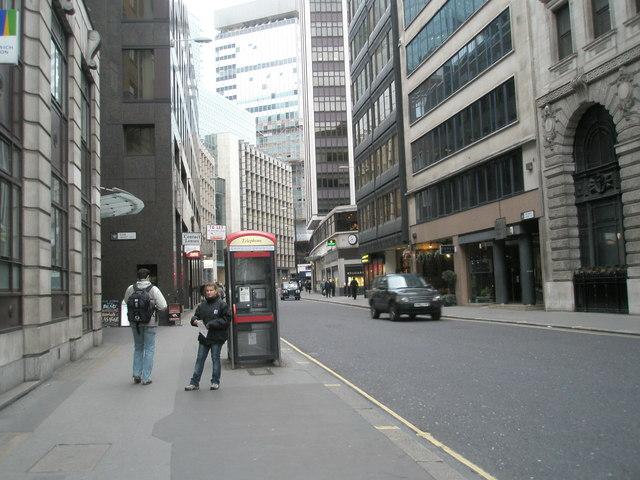 Looking westwards down Fenchurch Street