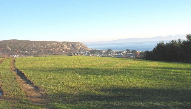 View east across the plateau towards the Warren Caravan Park