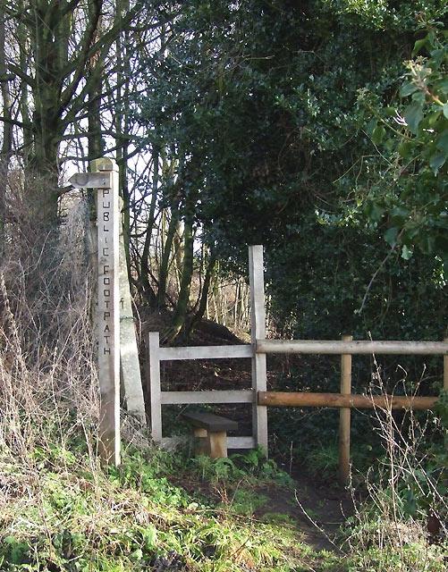 Footpath to Swindon, Staffordshire