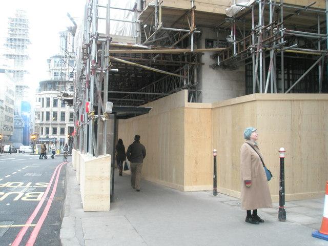 Building site in Gracechurch Street