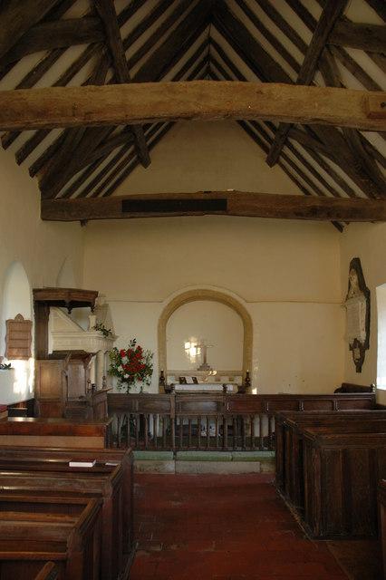 Interior of Farmcote church