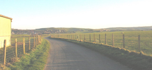 The road east from Towyn Farm