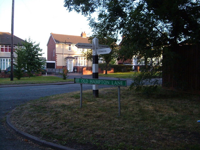 Junction of Old Hampton Lane with Cannock Road