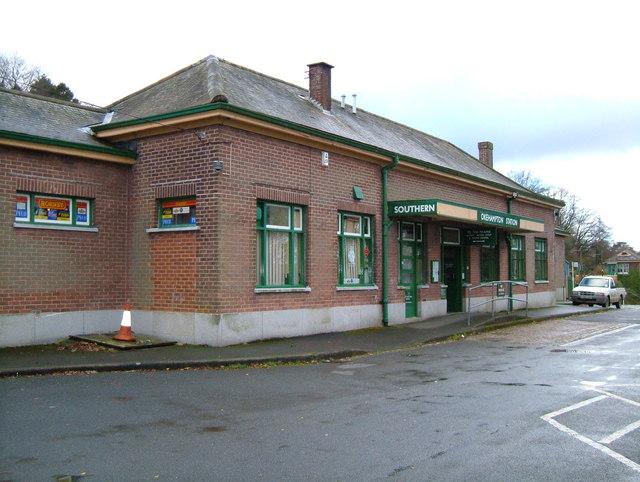 Okehampton Railway Station Entrance.