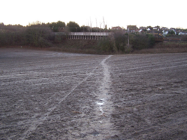 Another ploughed footpath