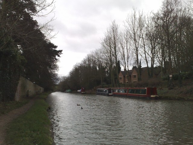 Narrow boats moored on the Grand Union at Blisworth