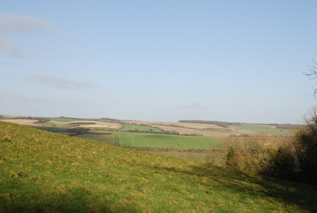 View from hill above Woodminton