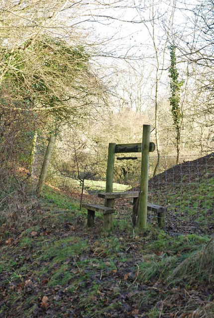 Stile for footpath to Bowerchalke