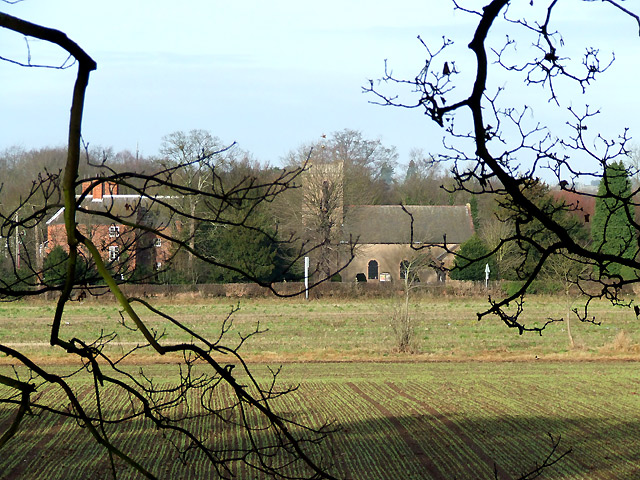 Fields and Himley Church, Staffordshire