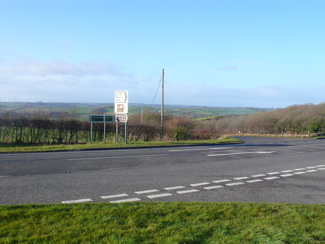 Wardon Hill road junction.