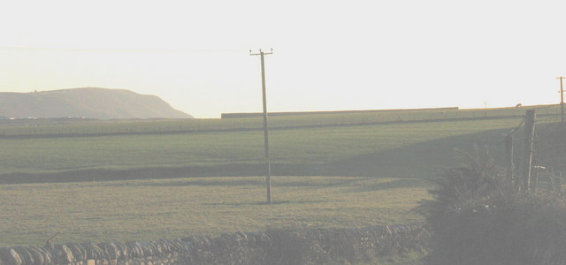 The site of the former RAF Hell's Mouth from near Rhydolion