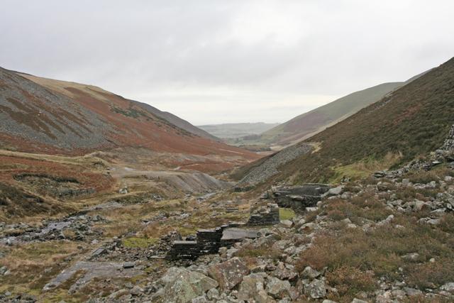 Abandoned mineworkings at Carrock