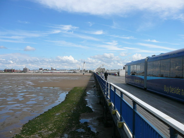 'End of the Pier' View inland towards Southport
