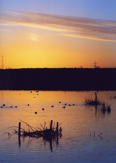 Winter sunrise, Newton Ings