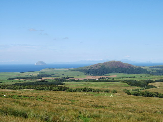 Knockdhu (230 metres) near to Ballantrae and Colmonell, South Ayrshire.