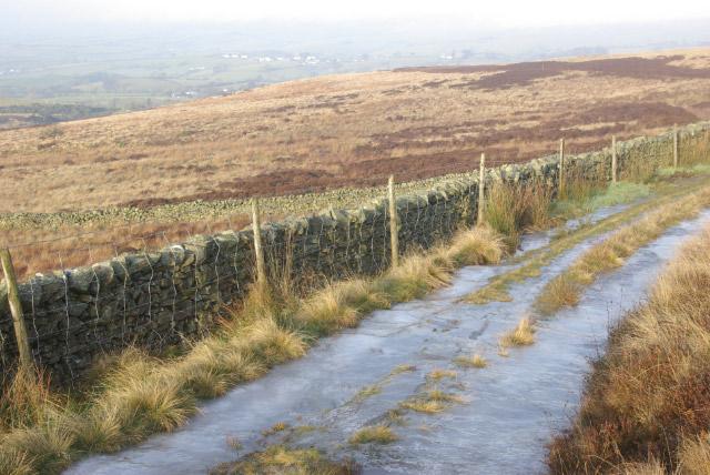 Track across Lambrigg Fell