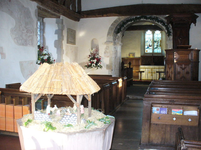 Inside Pyrford Church
